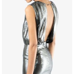 Opening ceremony metallic dress